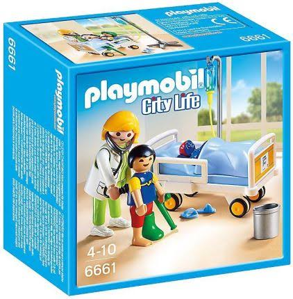 Playmobil City Life Children's Hospital Doctor & Child Play Set