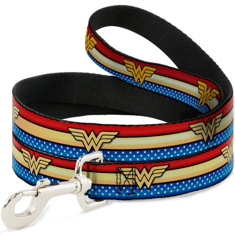 Buckle Down Wonder Woman Logo Stripe Pet Leash
