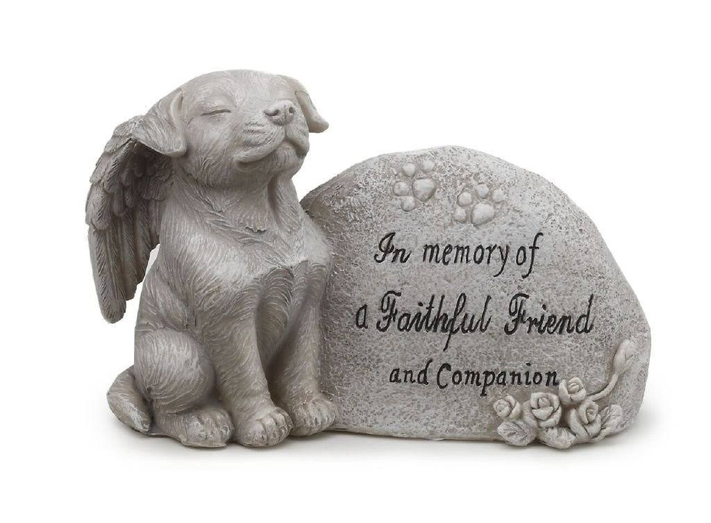 Napco Small Dog Memorial Stone by Garden