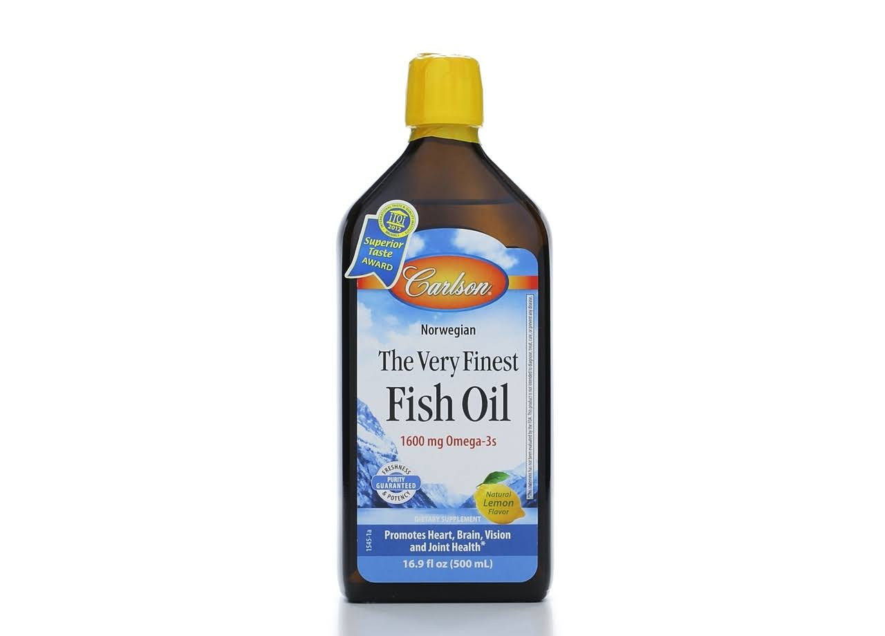 Carlson Labs Very Finest Fish Oil Liquid, Lemon - 500 ml bottle
