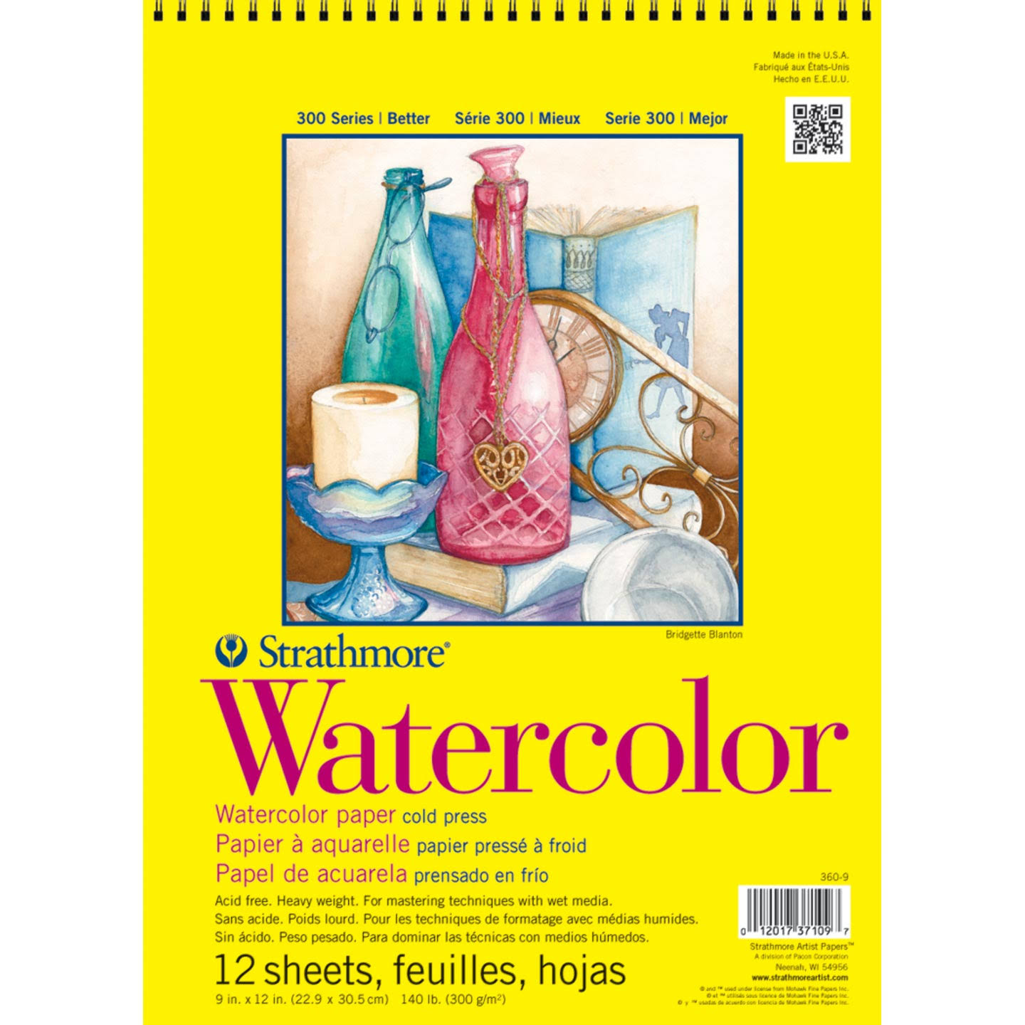 "Strathmore Watercolor Paper Pad - 9""x12"", 12 Sheets"