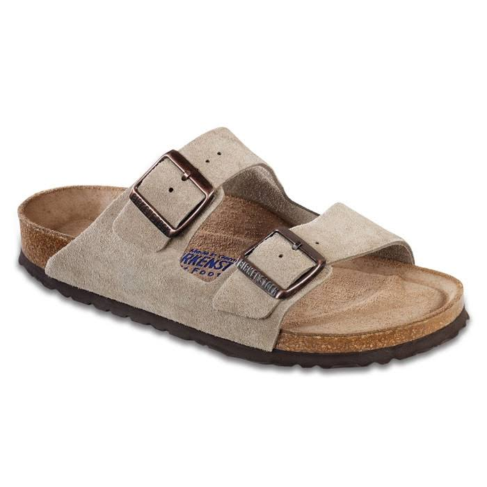 Birkenstock Arizona Soft Footbed Sandal - Black Suede