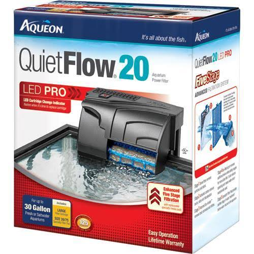 Aqueon QuietFlow20 Led Pro Aquarium Power Filter