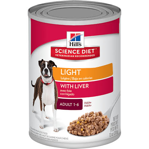 Hill's Science Diet Light Ground Premium Dog Food - with Liver, Adult 1-6, 13oz