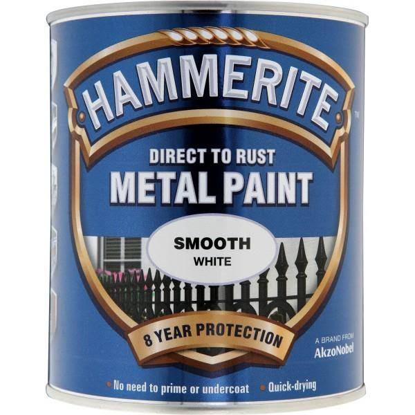 Hammerite Metal Paint - Smooth White, 750ml
