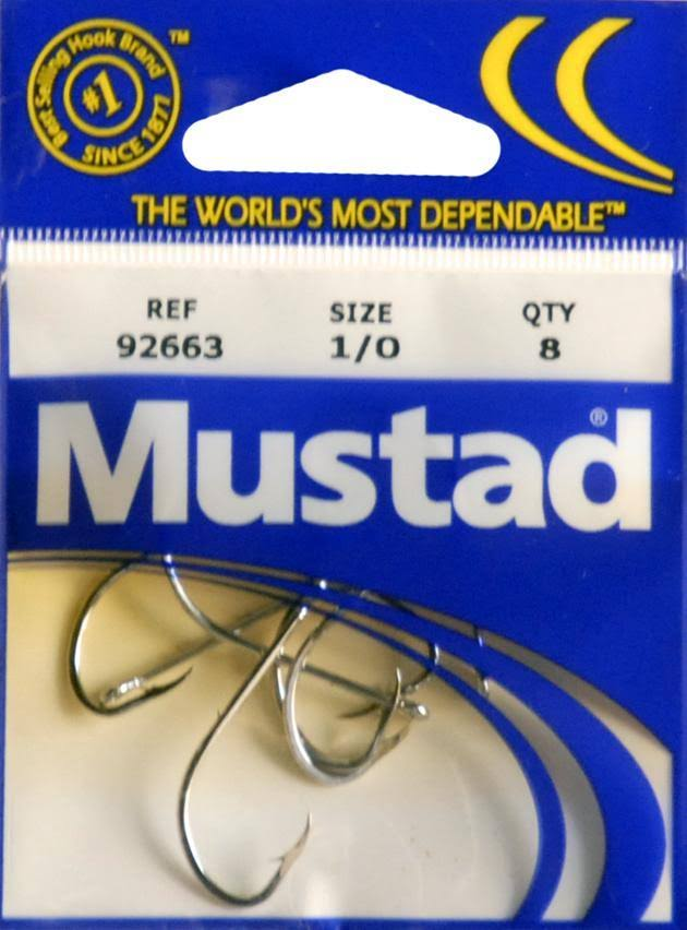 Mustad Classic Special Long Shank Beak Baitholder Hook - Nickel, Size 1