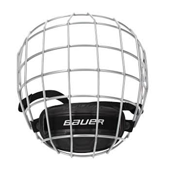 Bauer Profile II Hockey Face Mask with Chin Pad - Large, Silver