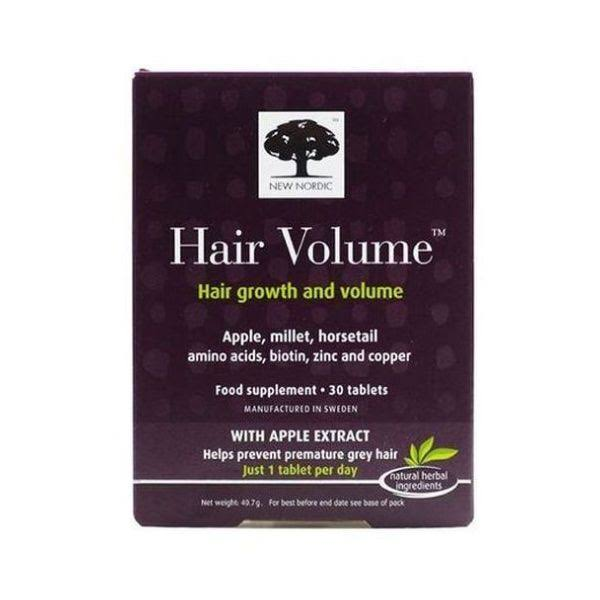 New Nordic Hair Volume Food Supplement Tablets - 30ct