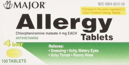Major Allergy Tablets - 100 Tablets