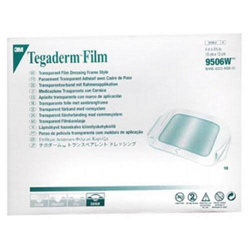 3M Tegaderm Dressing Transparent 4 x 4.75 in 10 Each by 3M 9506W