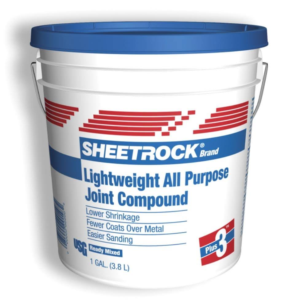 USG Sheetrock Lightweight Joint Compound - Blue Lid, All Purpose, 3.8l