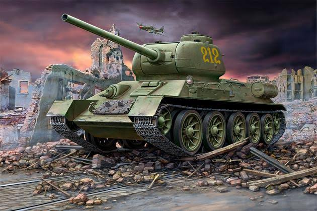 Revell 1:72 03302 Russian Battle Tank T-34/85 Model Military Kit