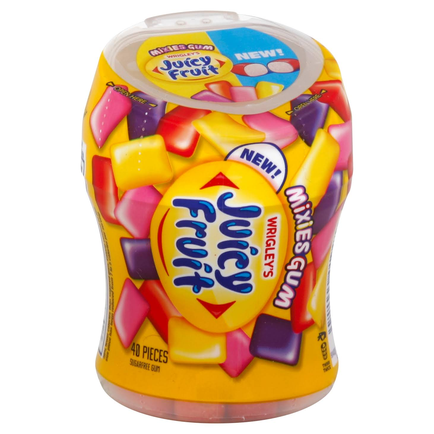 Juicy Fruit Gum, Sugar Free, Mixies Gum - 40 pieces