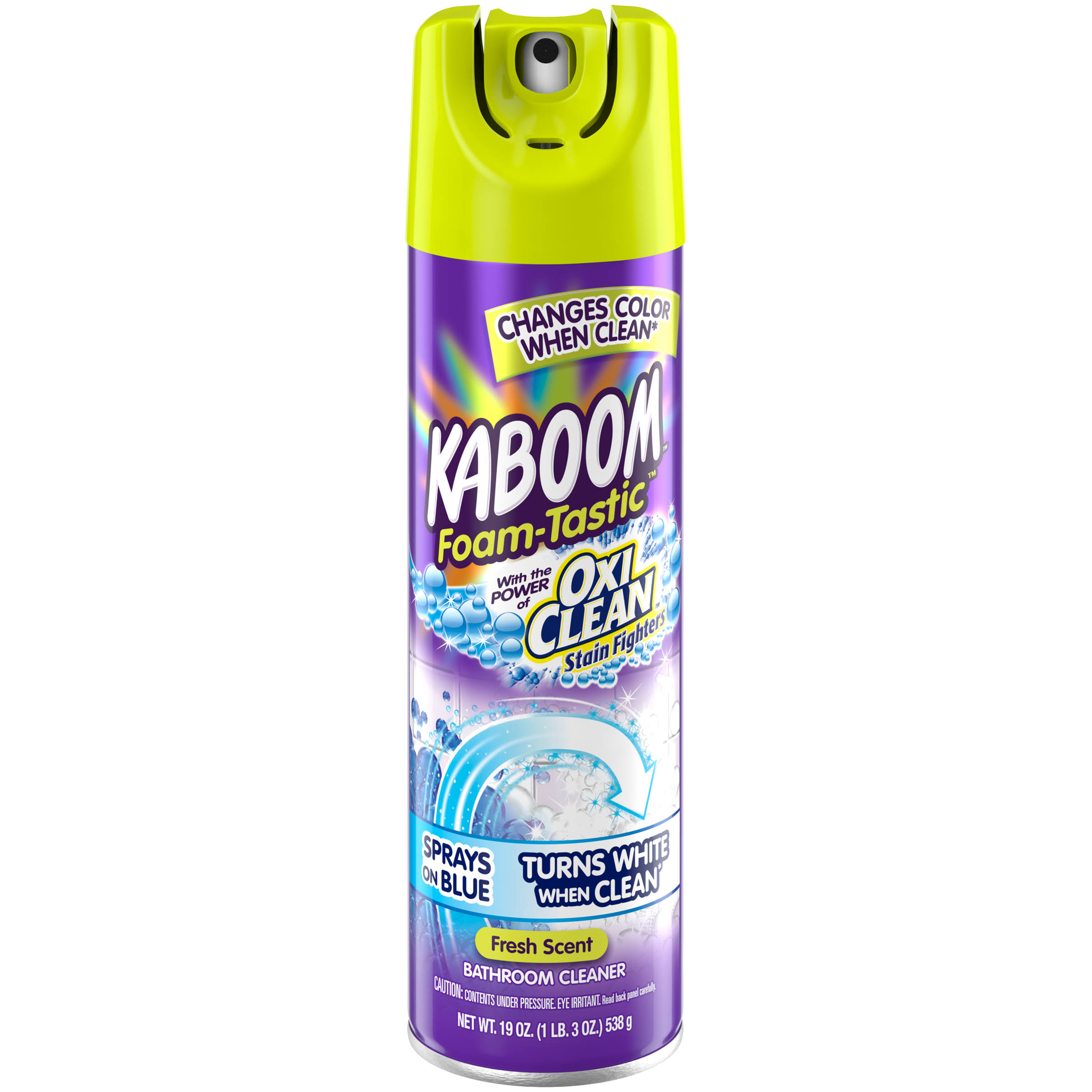 Kaboom Foam Tastic Color Changing Bathroom Cleaner - 19oz, Fresh Scent