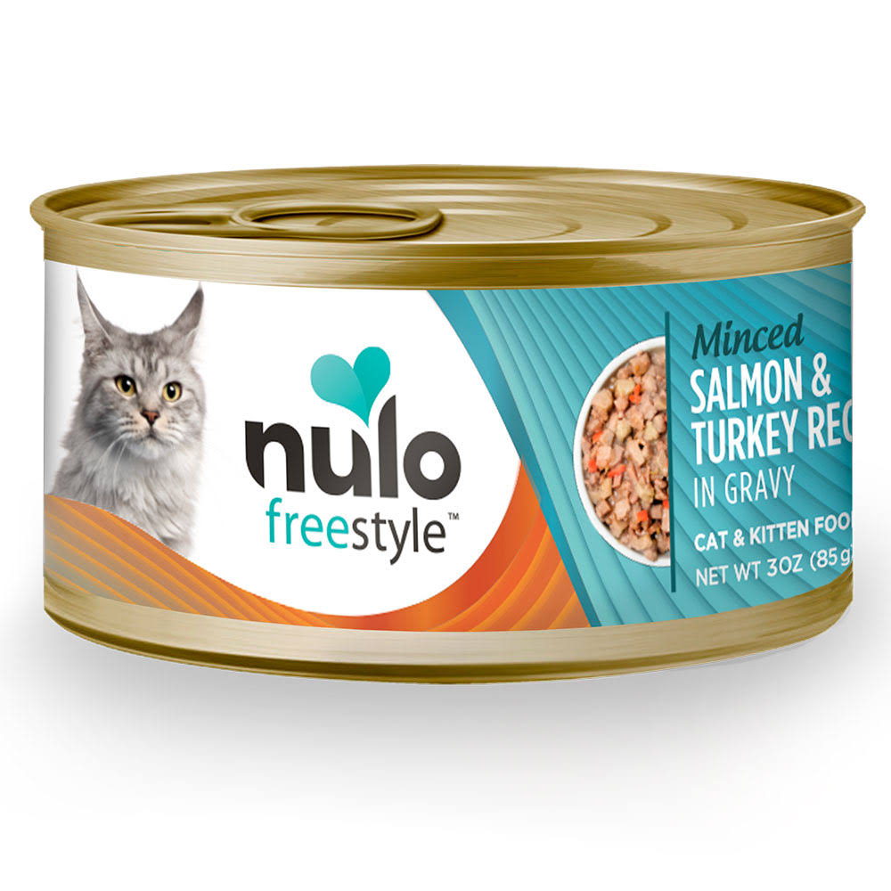Nulo Freestyle Minced Salmon & Turkey Recipe Canned Cat Food 24ea/3oz