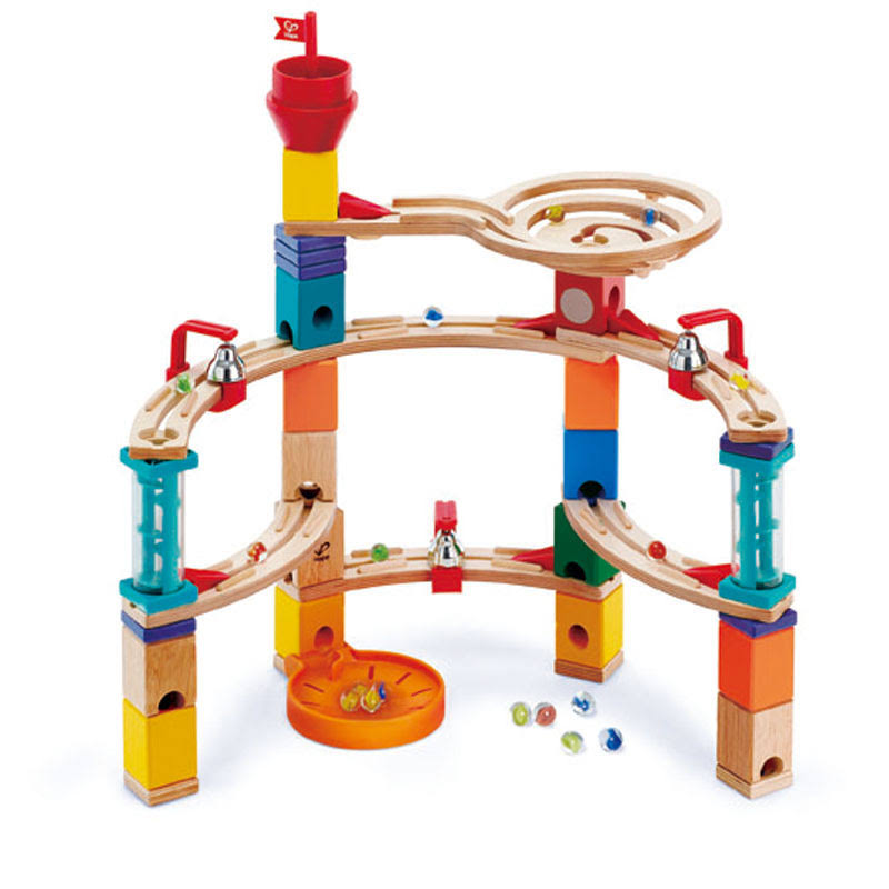 Hape Quadrilla Castle Escape Marble Run Childrens Wooden Playset