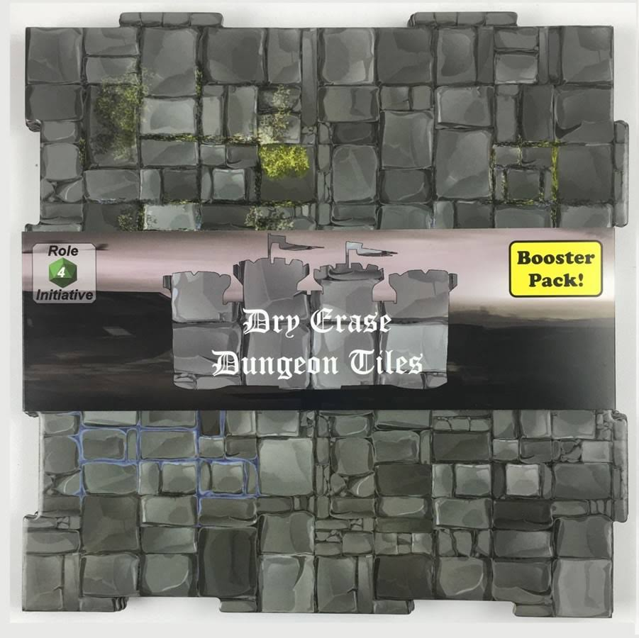 Role 4 Initiative Dry Erase Dungeon Tiles Square Booster Pack - Greystone