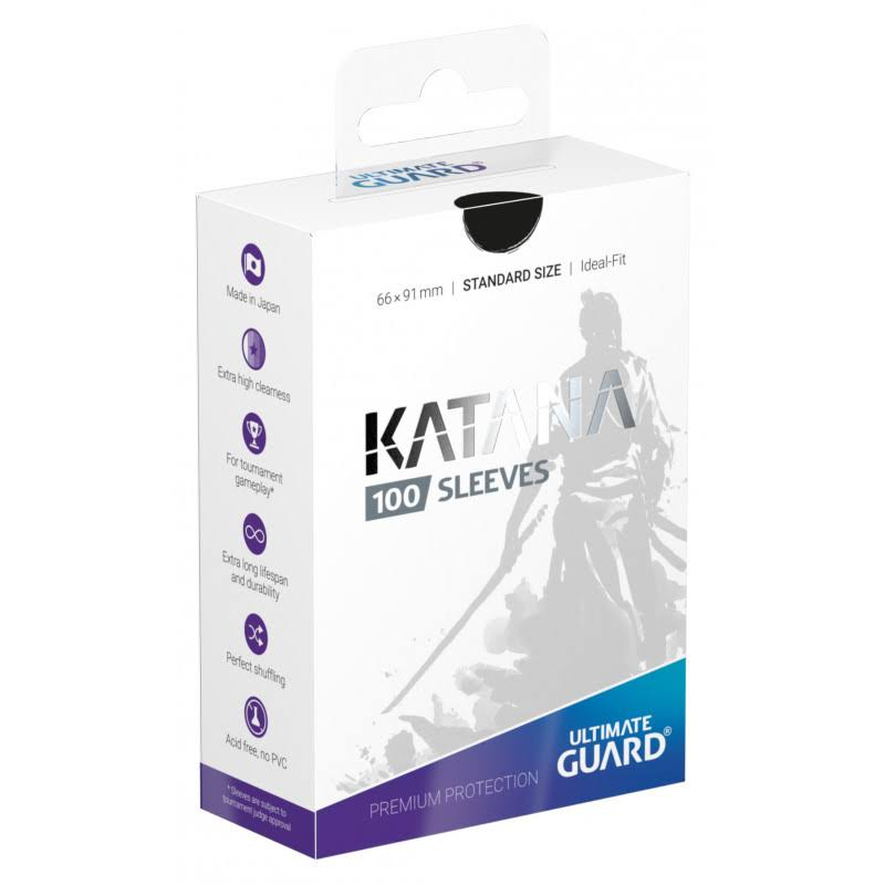 Ultimate Guard Katana Card Sleeves - Black, 66x91mm