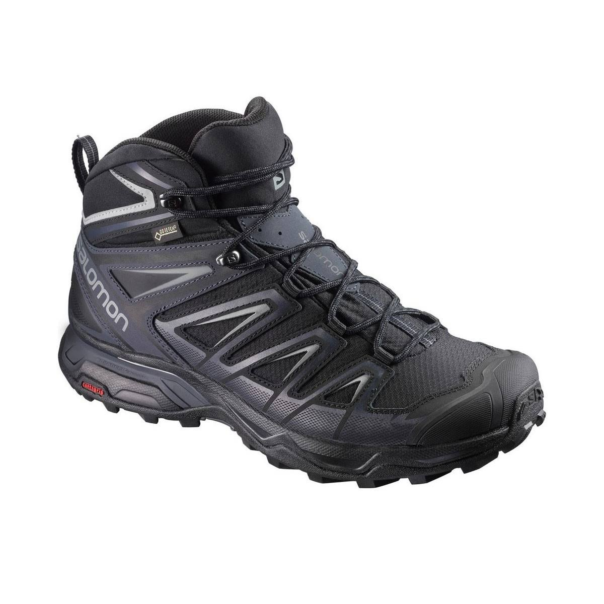 Salomon Men's X Ultra 3 Mid GTX Hiking Boots - Black/Gray, EU42