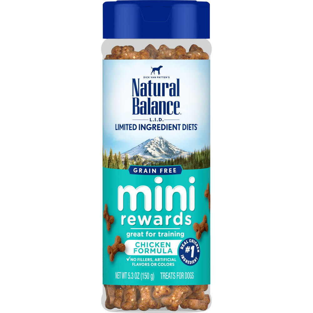 Natural Balance L.I.D. Chicken Mini Rewards Dog Training Treats, 5.3 oz.