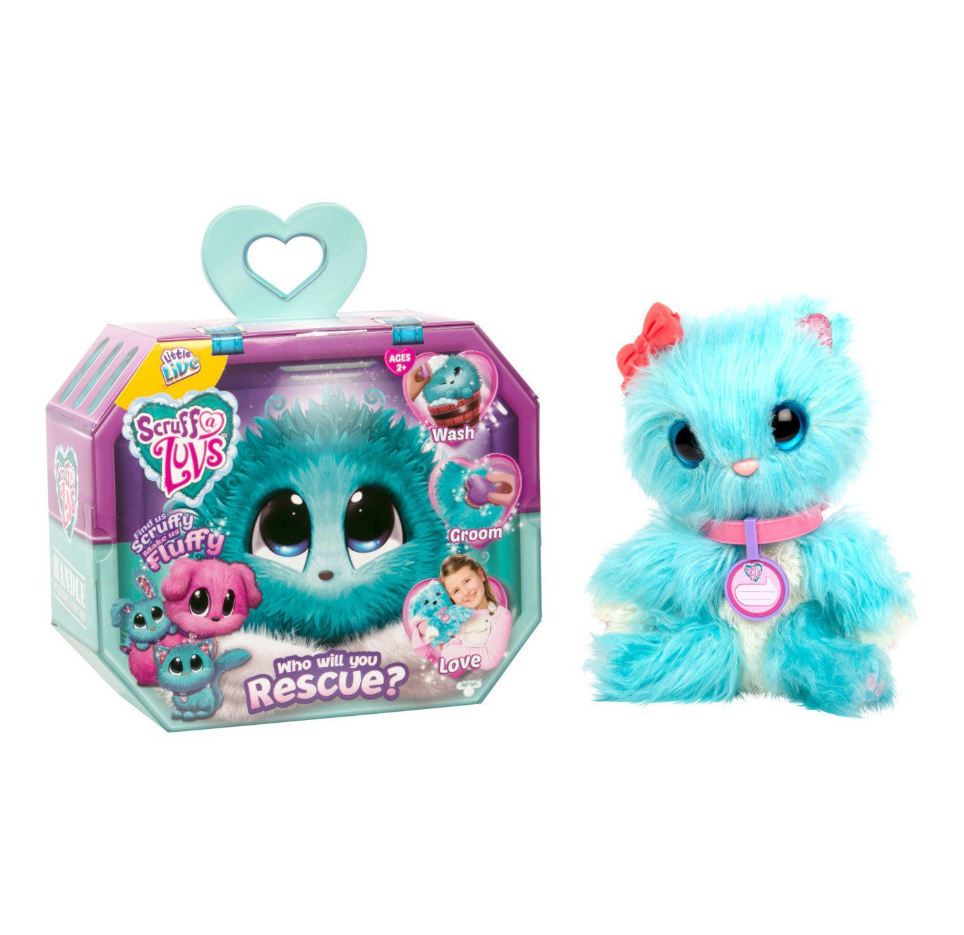 Little Live Scruff a Luv Verified Rare Dog Out Hot Toy - Blue