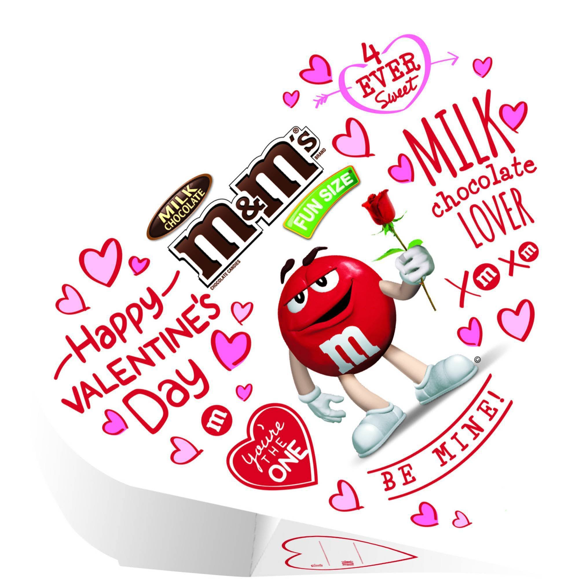 M and M's Valentine's Exchange Hearts Milk Chocolate Candy - 3.7oz