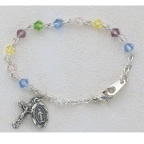 5 1/2in Multi Crystal Baby Bracelet