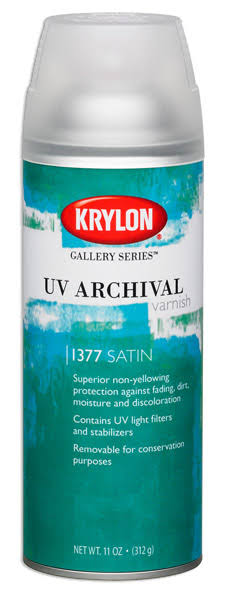 Krylon UV Archival Satin Varnish Spray - 312g