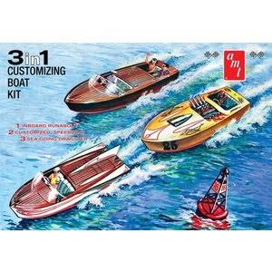 Amt Customizing Boat 3 in 1 Plastic Model Kit - 1/25 scale