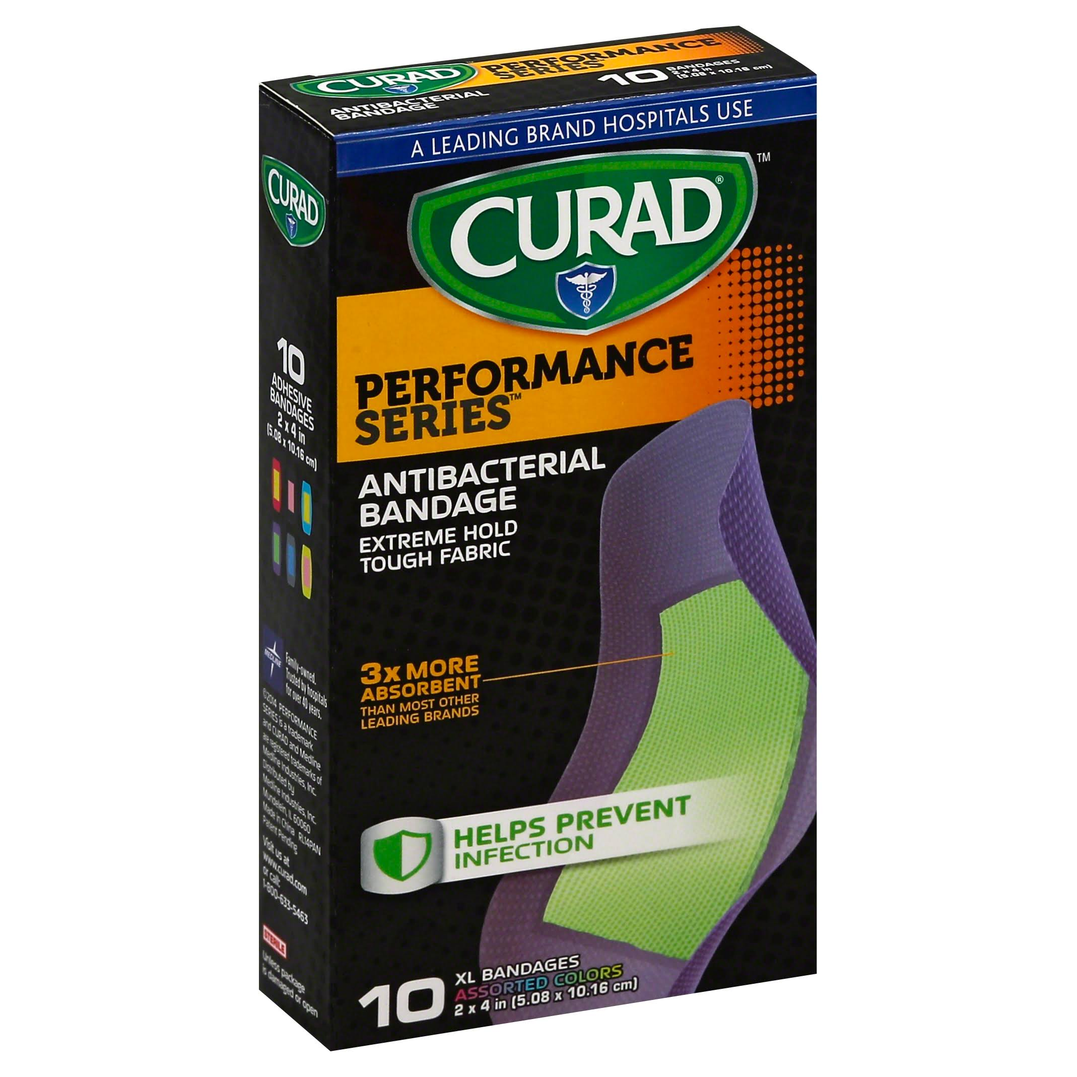 Curad Performance Series XL Bandages - 10pcs
