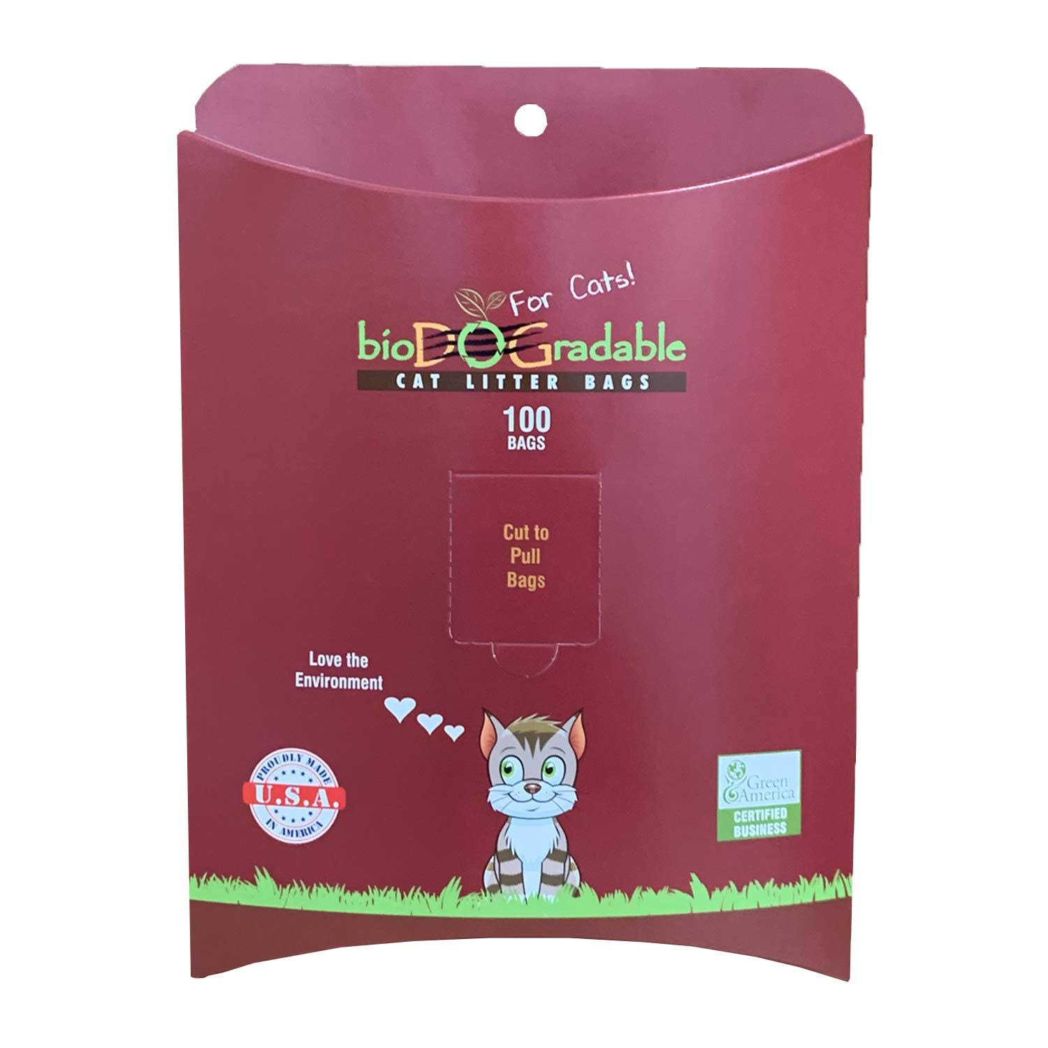 "Biodogradable Cat Litter Bags - 8""x16"", 100ct"