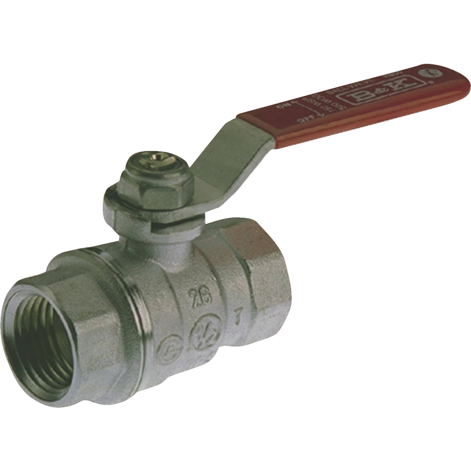 B and K Industries Full Port Ball Valve - 1/8""