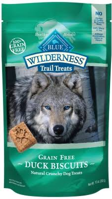 Blue Buffalo Wilderness Trail Treats Grain-Free Duck Dog Biscuits - 10 oz