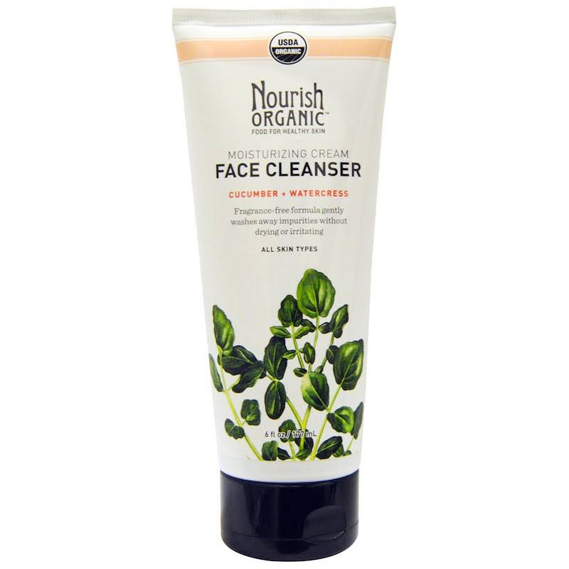 Nourish Organic Moisturizing Cream Face Cleanser - Cucumber and Watercress, 6oz