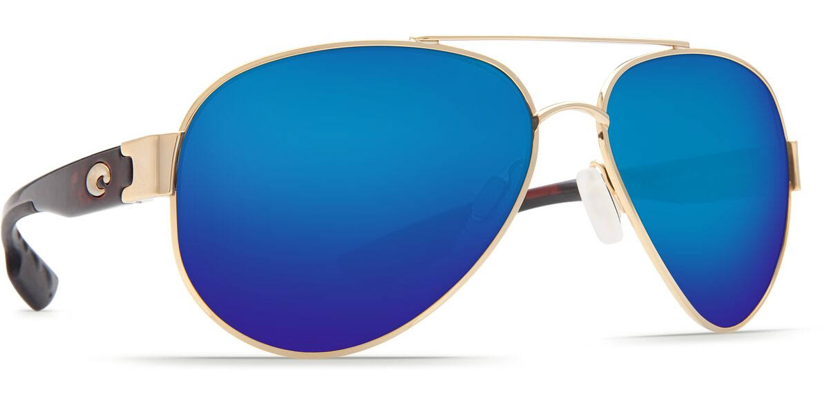 Costa Del Mar South Point Sunglasses - Gold/Blue Mirror 580, 122.6mm