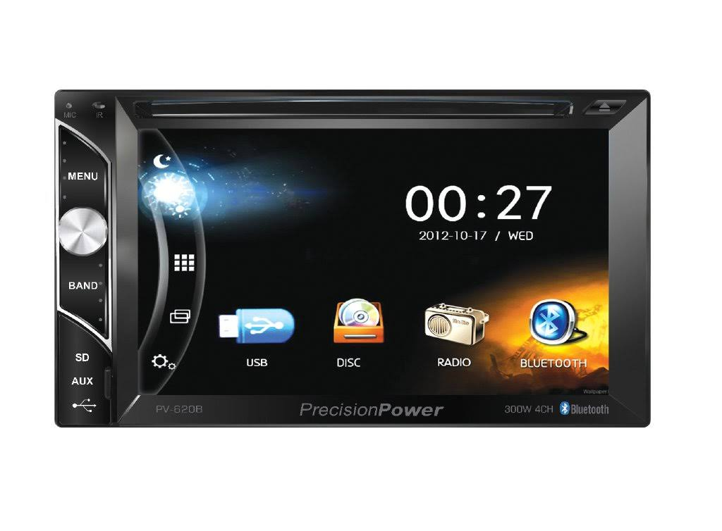 "Precision Power Pv-620b Car 2din 6.2"" Touchscreen DVD CD USB Bluetooth Stereo"