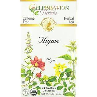 Celebration Herbals Organic Thyme Tea - 24 Tea Bags