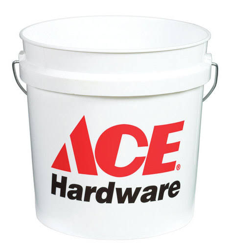 Ace Plastic Pail, White - 2 gal total