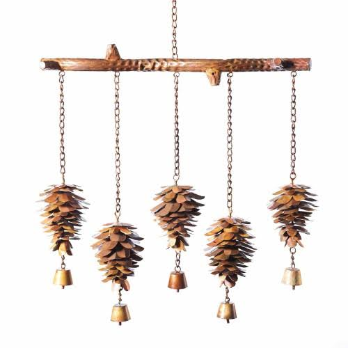 Ancient Graffiti ANCIENTAG1429 Pine Cone Flamed Wind Chime