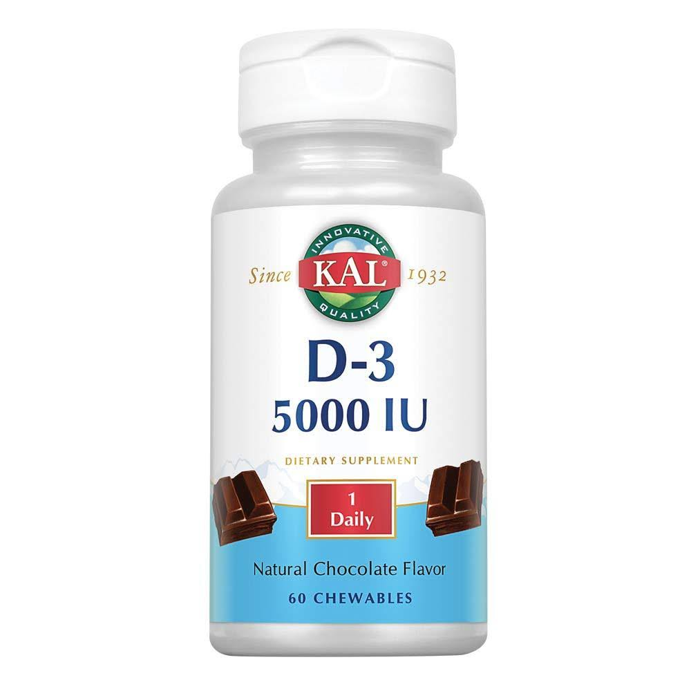 Kal Ultra D-3 Supplement - Chocolate, 5000 IU, 60 Chewables