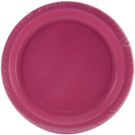"Creative Converting 234019 Heavy Duty Paper Plate - Candy Pink, 7"", 24ct"