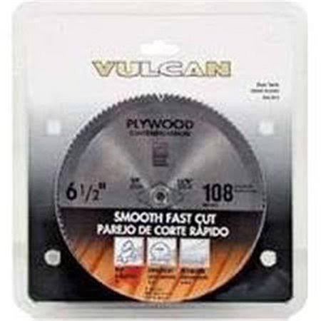 "Vulcan 409051Or Smooth Cut Circular Saw Blade - 6-1/2"", 108T"