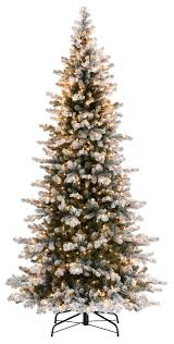 Artificial Christmas Tree 6ft by 6ft Frosted Christmas Tree Christmas Lights Decoration