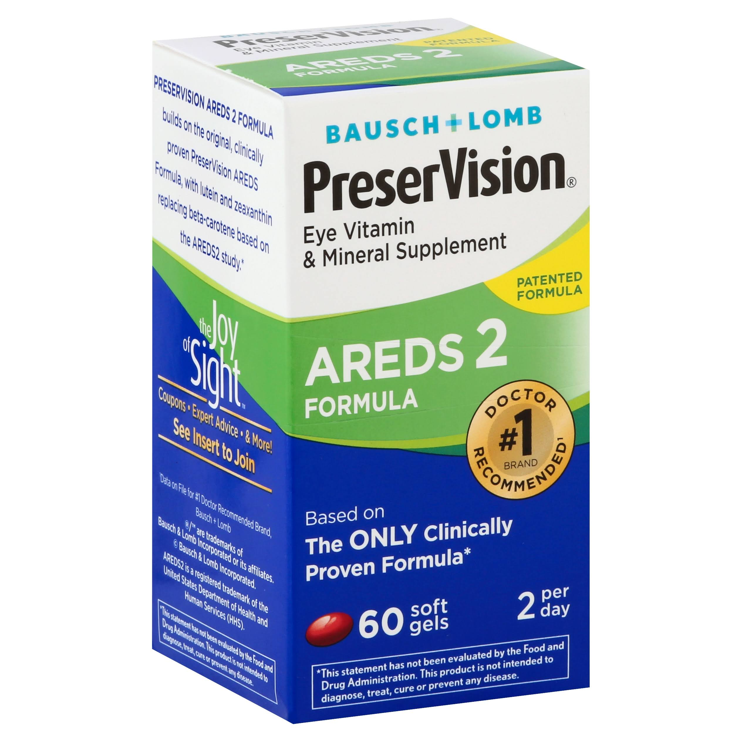 Bausch and Lomb PreserVision AREDS 2 Formula Eye Vitamin - 60ct