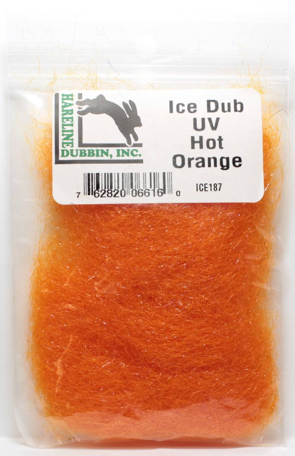 Hareline Dubbin Ice Dub UV ICE187 Fly Tying Material - Hot Orange