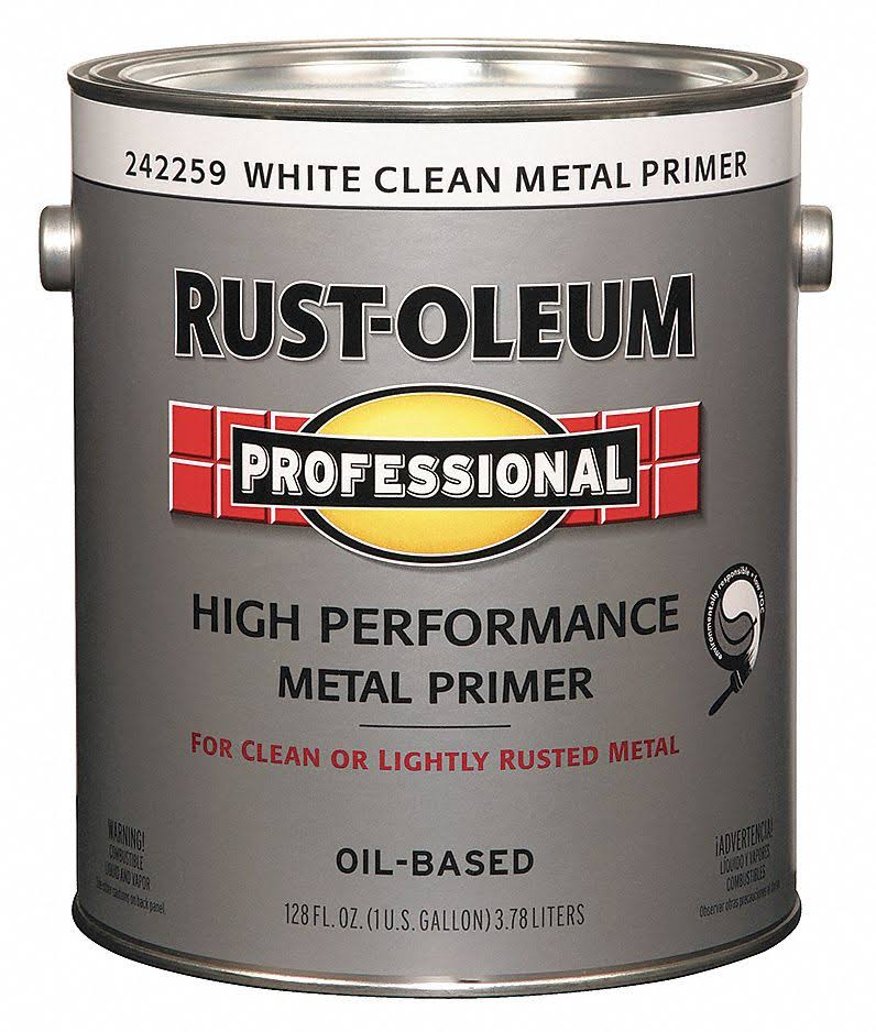 Rust-Oleum 242259 Professional Metal Primer - White, 1 Gallon