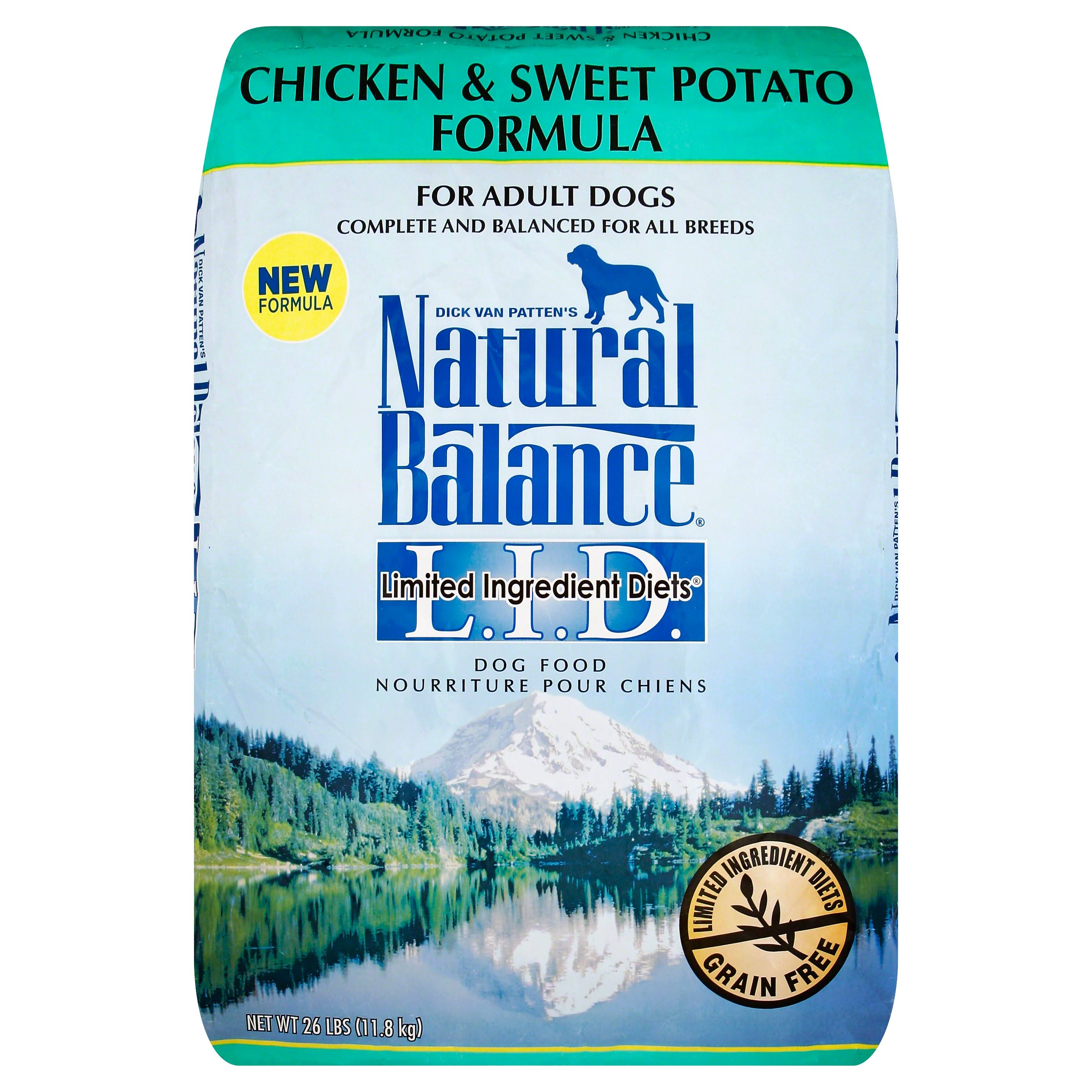 Natural Balance LID Dog Food - Chicken & Sweet Potato, 26lb