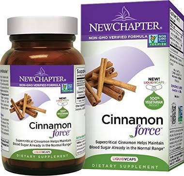 New Chapter Cinnamon Force Supplement - 120 Softgels