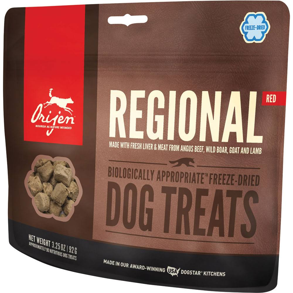 ORIJEN Freeze Dried Dog Treats, Regional Red / 3.25 oz