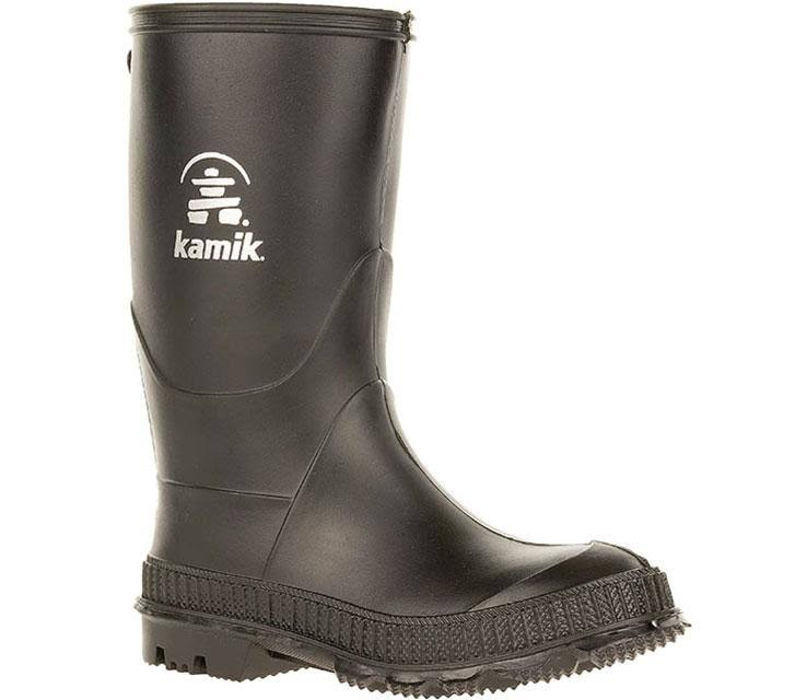 Kamik Stomp Rain Boots - Black, 4US Big Kid